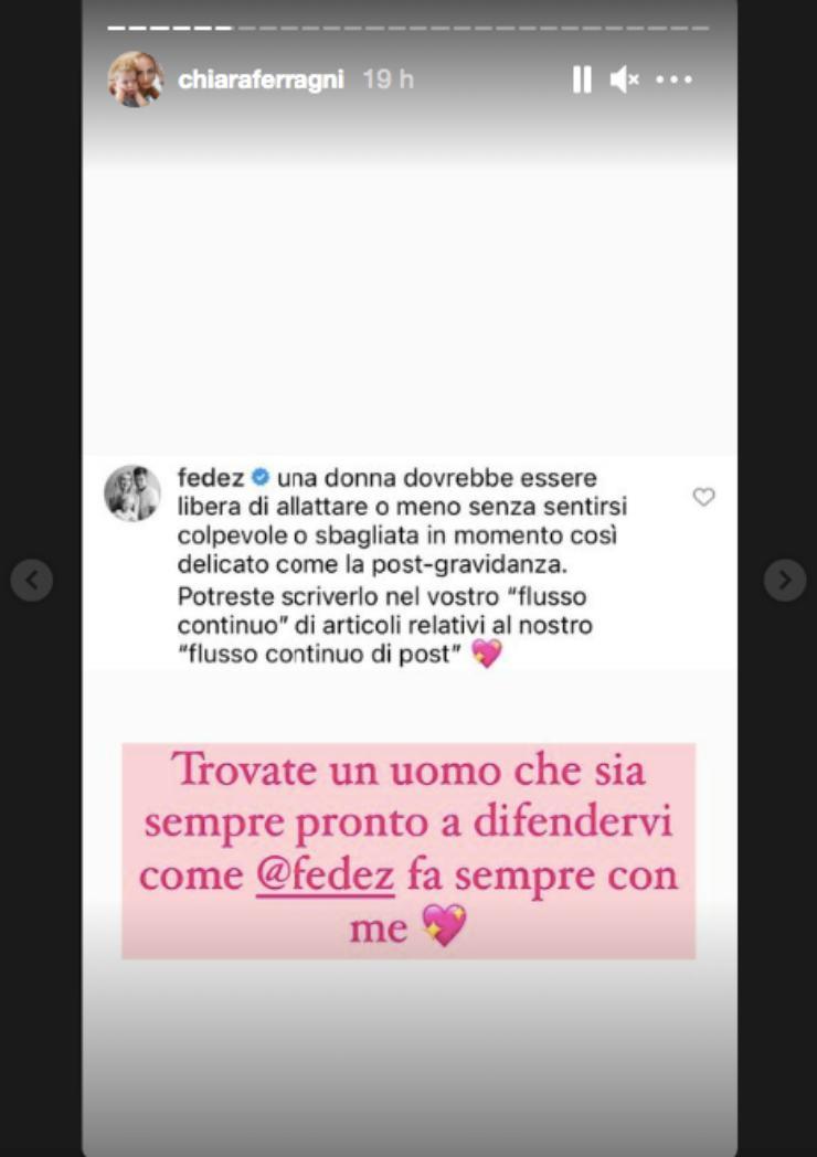 messaggi Fedez e Chiara Ferragni